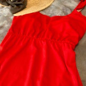 Kortni Jeane red one piece swimsuit ❤️